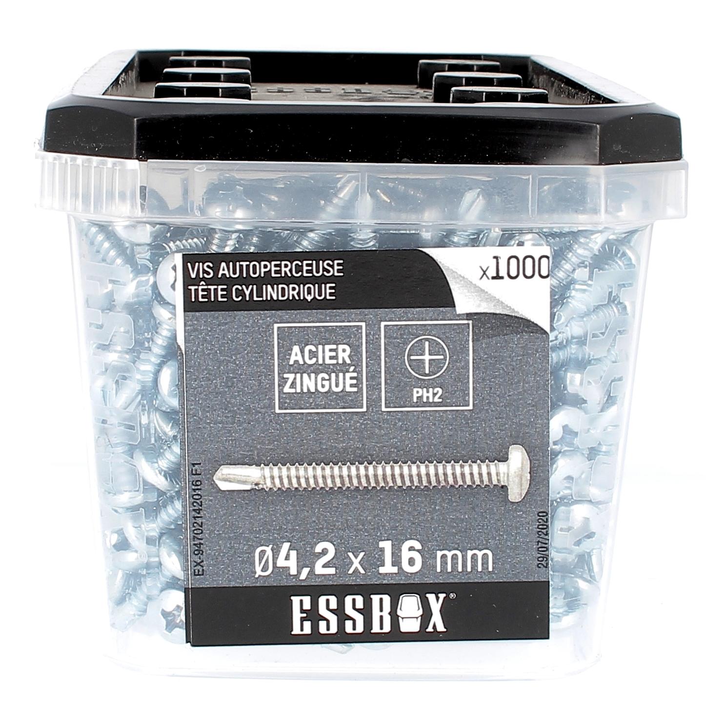 ESSBOX de 1000 Autoperceuses TCC 4.2X16 Zingué