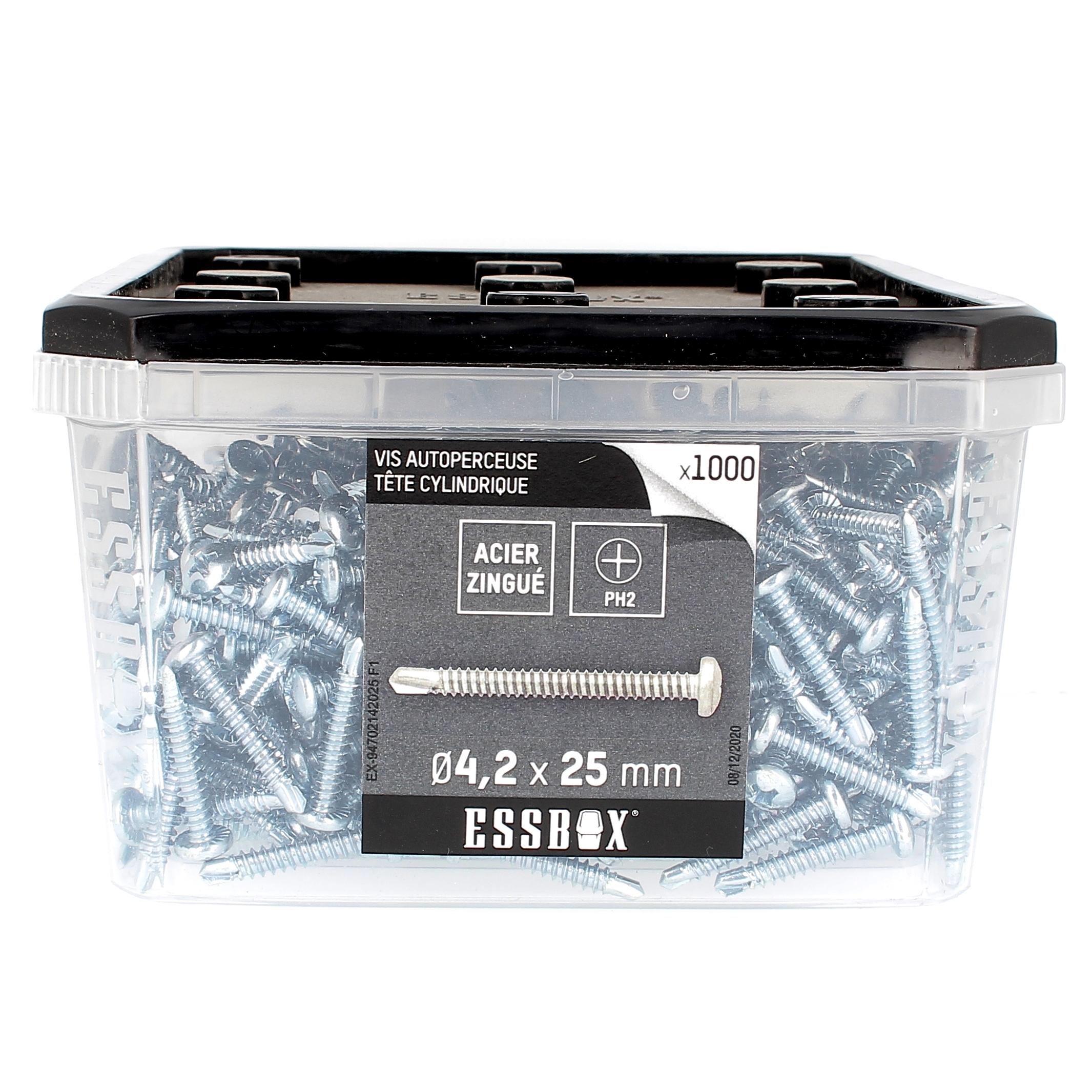 ESSBOX de 1000 Autoperceuses TCC 4.2X25 Zingué
