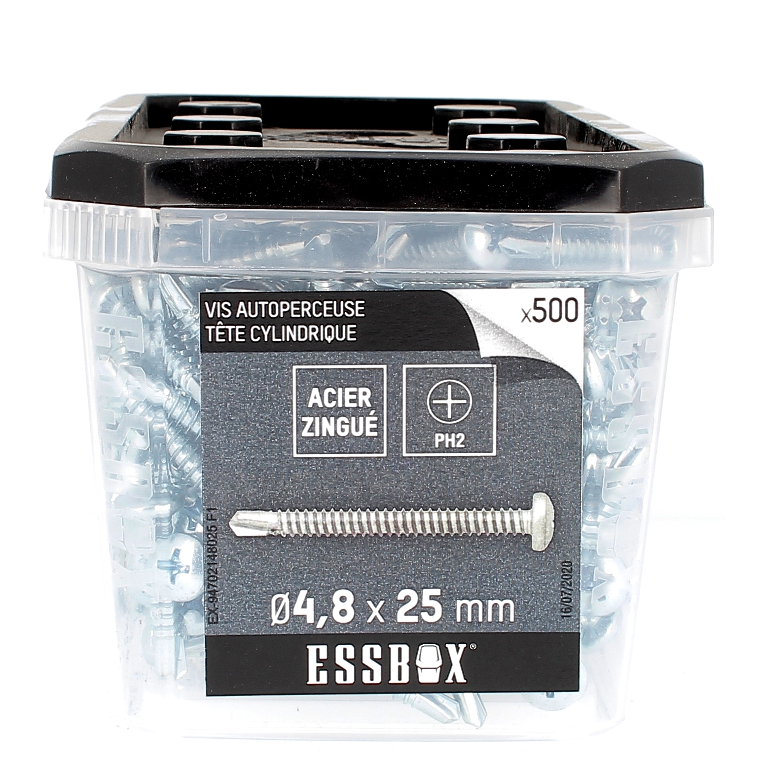ESSBOX de 500 Autoperceuses TCC 4.8X25 Zingué