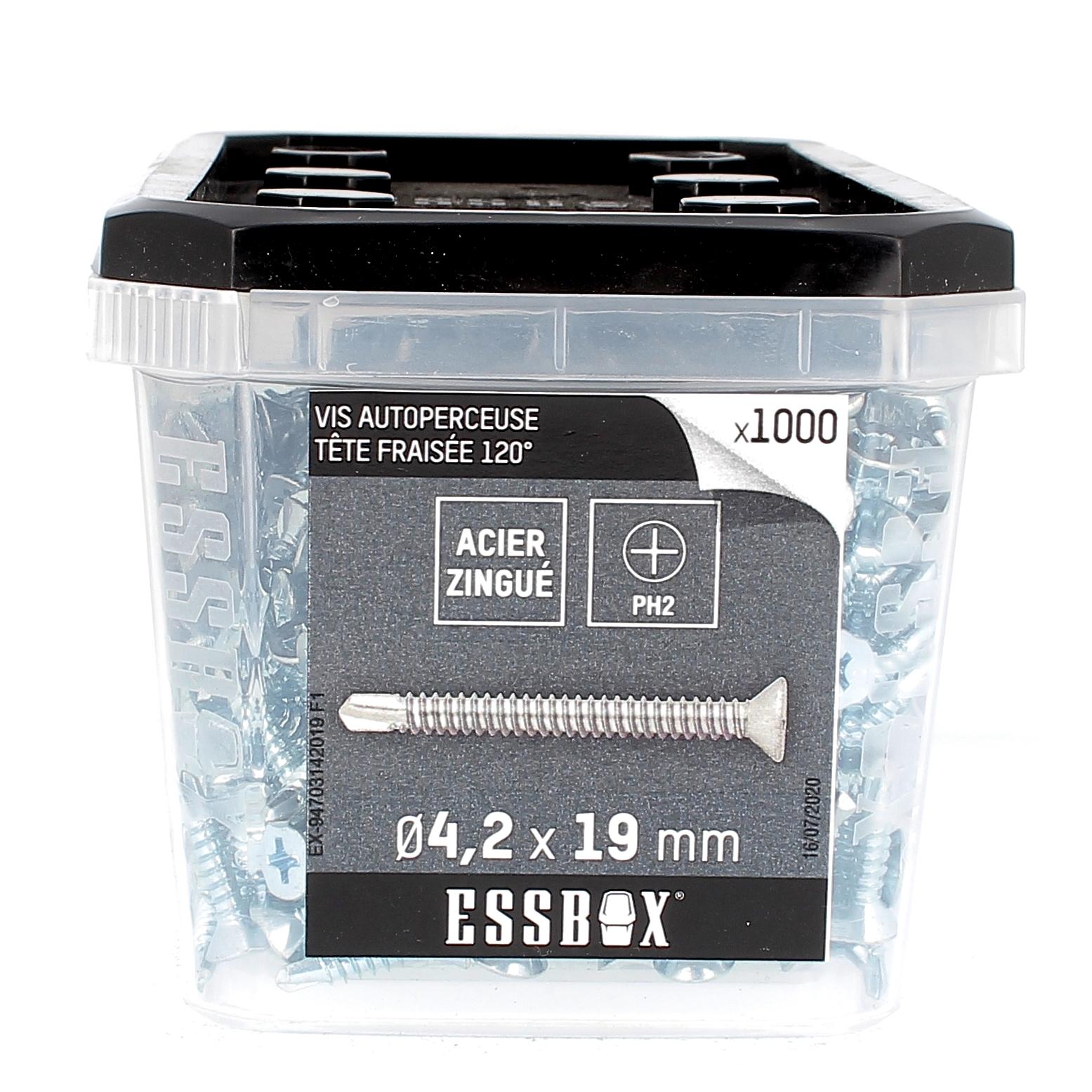 ESSBOX de 1000 Autoperceuses TFC 4.2X19 Zingué