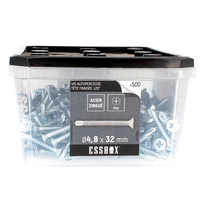 ESSBOX de 500 Autoperceuses TFC 4.8X32 Zingué