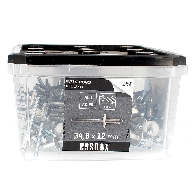 ESSBOX de 250 Rivets TL 4.8X12 Alu/Acier