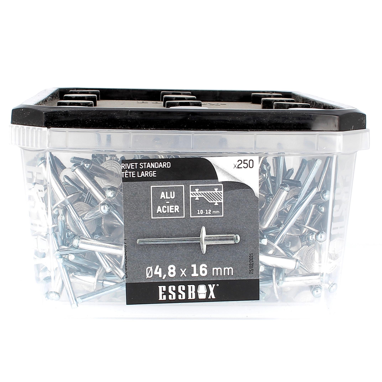 ESSBOX de 250 Rivets TL 4.8X16 Alu/Acier
