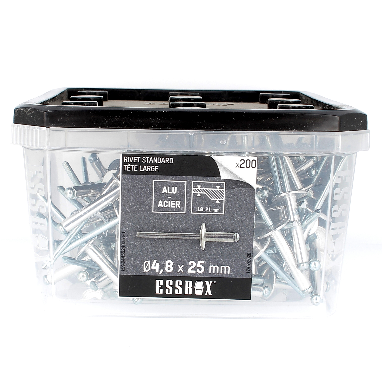 ESSBOX de 200 Rivets TL 4.8X25 Alu/Acier