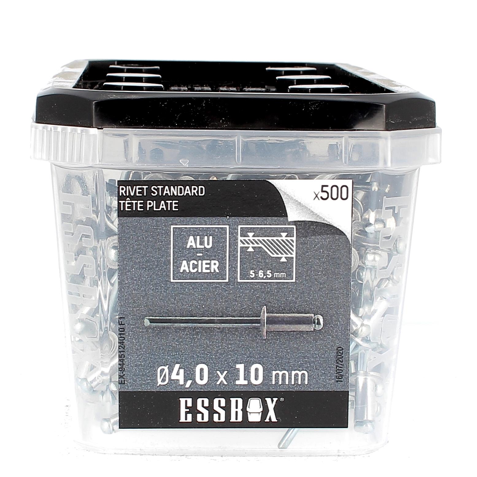 ESSBOX de 500 Rivets TP 4X10 Alu/Acier