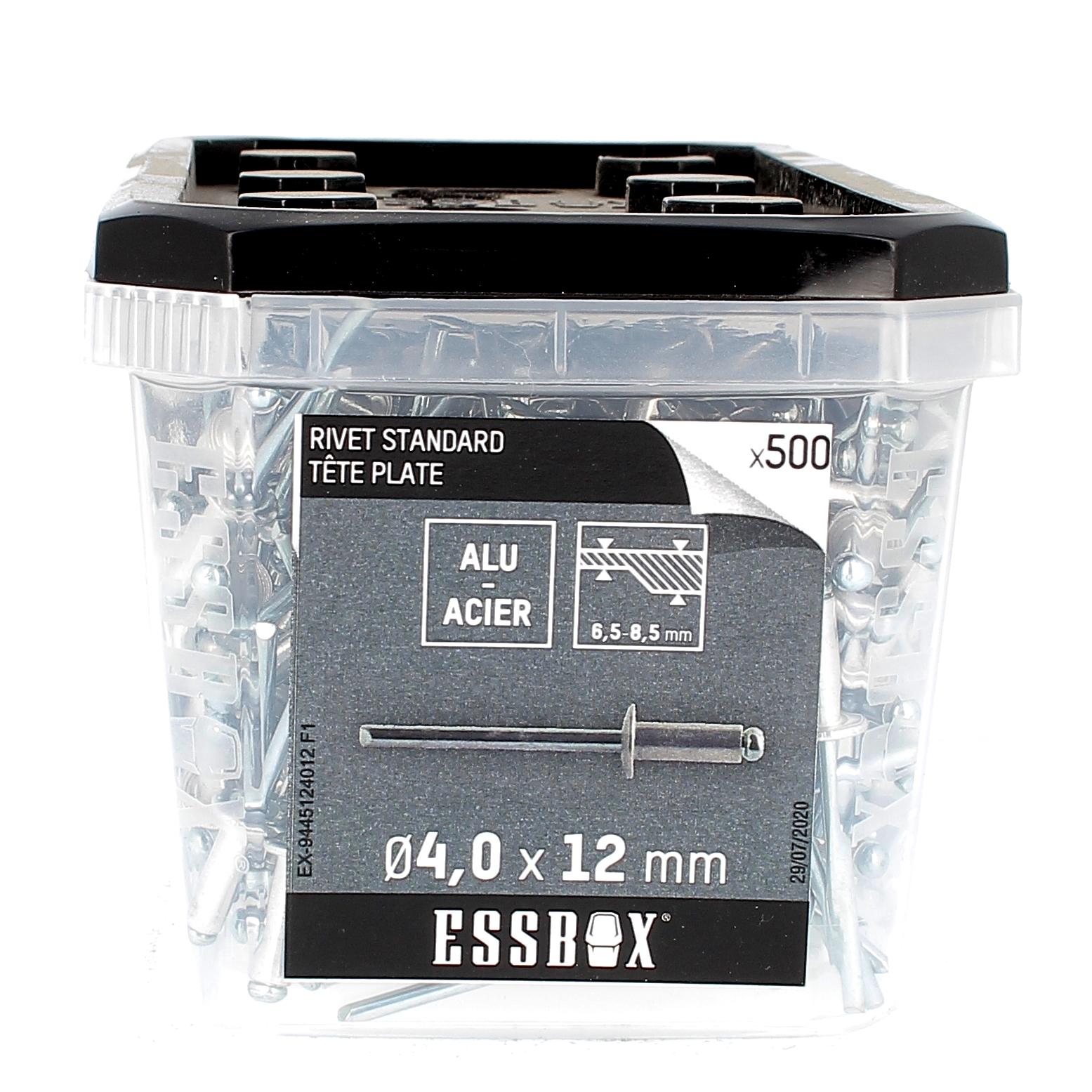 ESSBOX de 500 Rivets TP 4X12 Alu/Acier