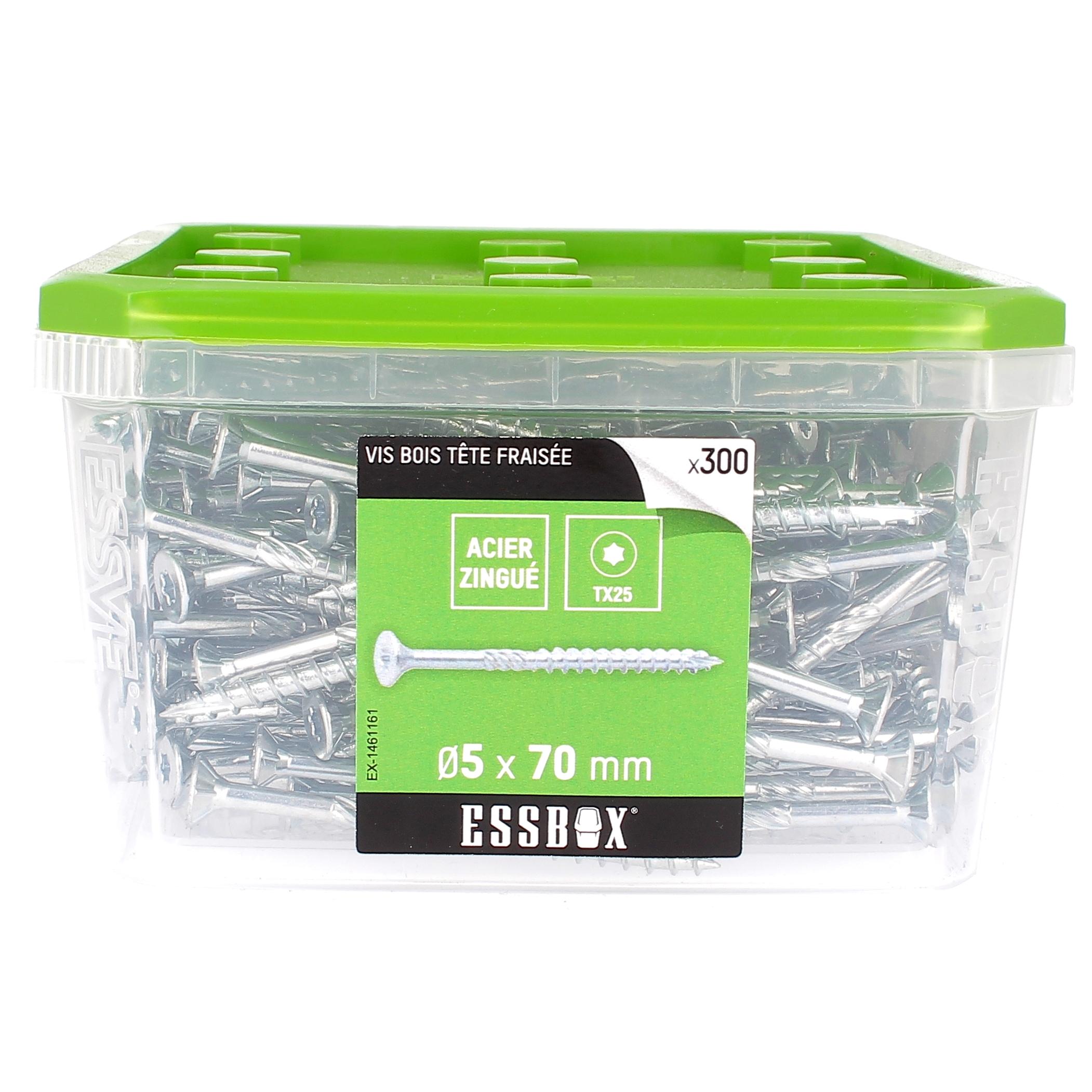 ESSBOX de 300 VBA TFX 5X70 Zingué (filetage partiel)