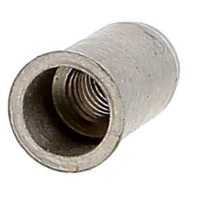 Ecrou Noyé RIVKLE en Inox à Fût Cylindrique Lisse Ouvert, cote de perçage poucique (Tête Affleurante)