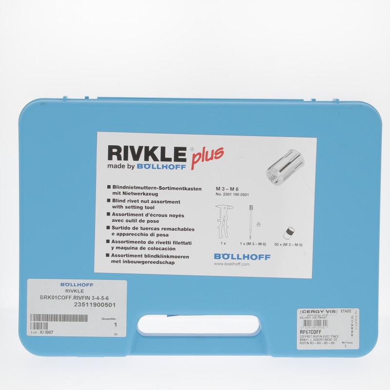 Coffret RIVKLE RF67 M3-M4-M5-M6 + Pince BRK01