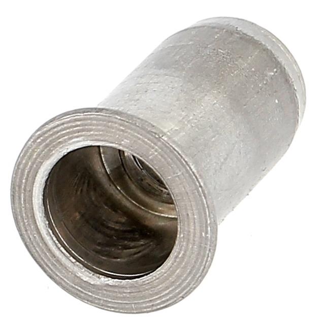 Ecrou Noyé RIVKLE en Aluminium à Fût Cylindrique Ouvert (Tête Fraisée)