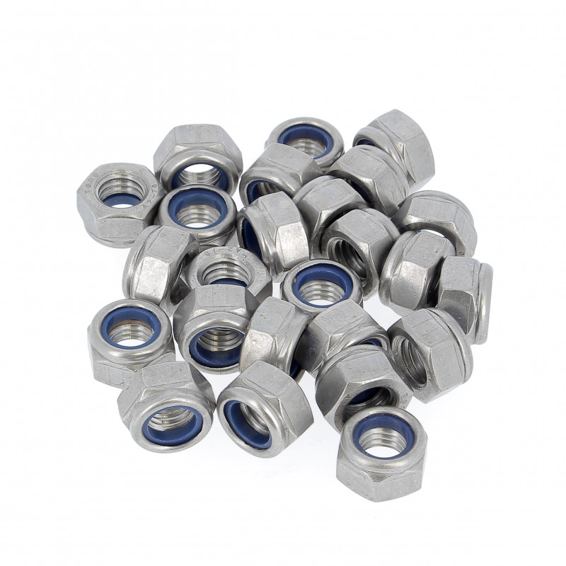 Sachet de 25 Ecrous Nylstop Inox A2