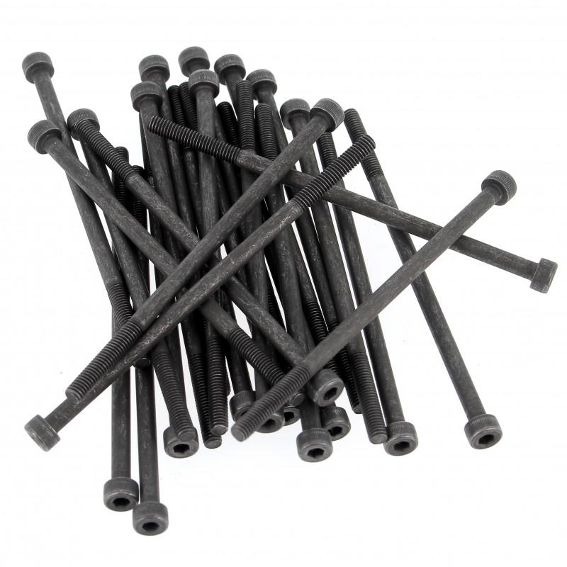 Sachet de 25 Vis à Tête Cylindrique Hexagonale Creuse Acier 12.9 Noir